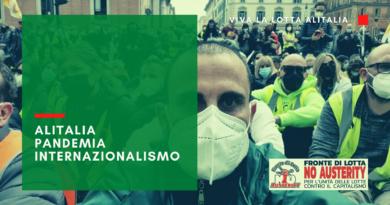Alitalia, pandemia e internazionalismo: intervista a Daniele Cofani.